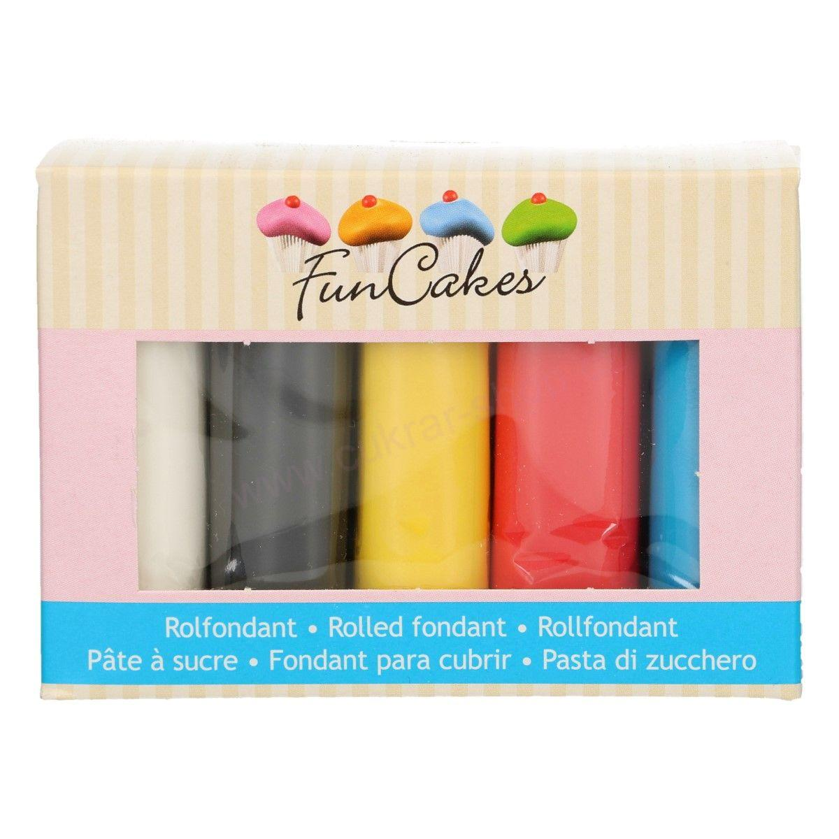 FunCakes Multipack Primary Colours 5x100g